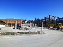 Nytt logistikcenter för byggvaror under uppbyggnad!