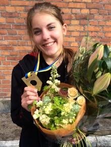 Sofia tog SM-guld i plåtslageri