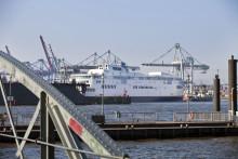 Scandlines' første nye skrog er ankommet til Blohm+Voss i Hamburg