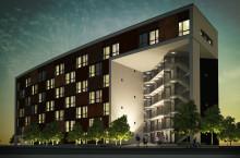 142 lägenheter för studenter och forskare i Kvarteret Söderåsen