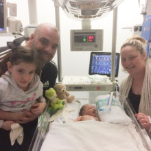 Devoted Dad to drive miles in memory of baby Lewis and raise money for charity