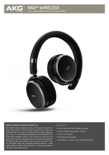 Specification Sheet AKG N60 NC Wireless