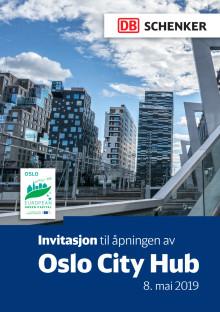 Invitasjon til åpningen av Oslo City Hub