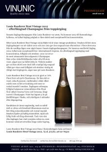 Louis Roederer Brut Vintage 2012 – efterlängtad champagne från toppårgång