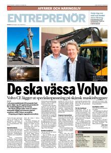 Ce De Group - artikel DI 111031 Ce De Group partneravtal med Volvo CE