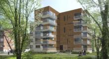 Sexvåningshus med trästomme byggs i Örebro