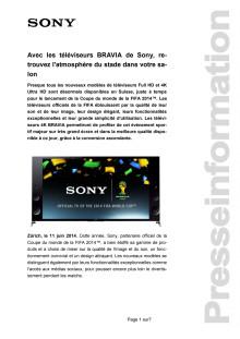 Communication de presse_BRAVIA Football Coupe du monde 2014_F-CH_140606