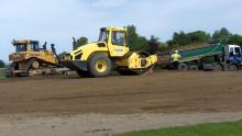 Work starts of earth amphitheatre in Elgin park.
