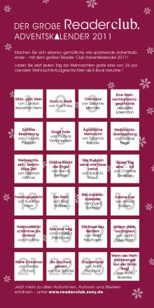 """Vorweihnachtlicher Lesespaß auf dem Reader und Tablet von Sony: Ab morgen jeden Tag ein kostenloses E-Book im """"Reader Club Adventskalender"""""""