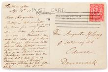 Postkort fra dansker på Titanic – historisk klenodie under hammeren