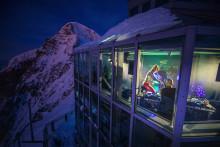 Tanzen auf 3454 Metern: Das Jungfraujoch wurde zum VIP-Club