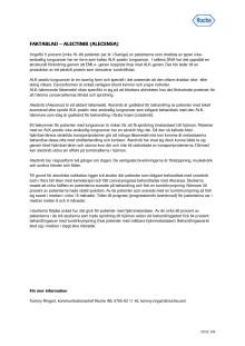 Faktablad – Alecensa (alectinib)