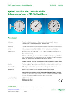 ESMI-kello - uusi muovikehys