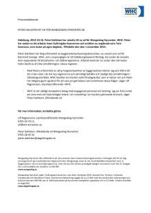 Peter Dahlsten ny vd för Wangeskog Hyrcenter AB