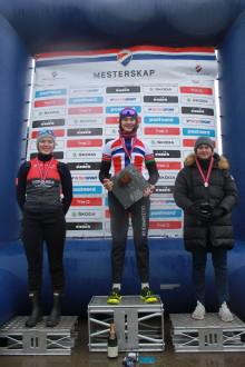 Brenningen Bjørklund, Ottestad, Høines Larsen og Wærenskjold vant NM sykkelkross 2019.