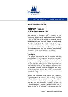 Maritim Hotels - A story of success