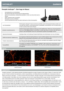 Datenblatt Garmin Panoptix LiveScope
