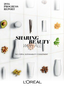 Statusrapport L`Oreal Sharing Beauty With All 2016