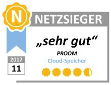 Netzsieger: 4,69 von möglichen 5 Punkte für Dokumentenaustausch-Plattform PROOM
