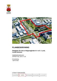 Planbeskrivning- Ideontorget och Idépromenaden