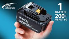 Makita fortfarande störst på 18V – nu över 200 maskiner!