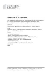 Revisionsteknik för inspektörer
