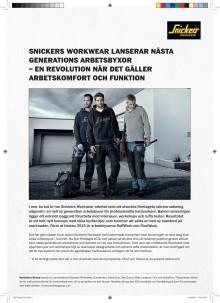 Pressrelease: Snickers Workwear - nästa generation arbetsbyxor