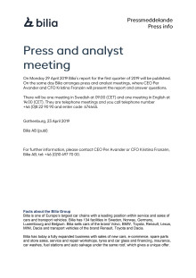 Press and analyst meeting