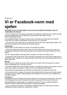 Adecco - Vi er Facebook-venn med sjefen