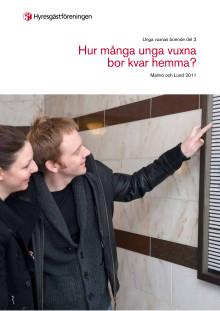 Hur många vuxna bor kvar hemma i Lund och Malmö