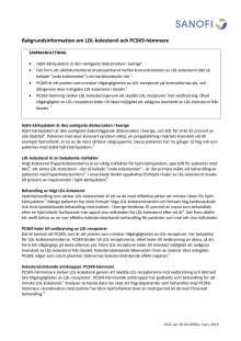 Bakgrundsinformation om LDL-kolesterol och PCSK9-hämmare
