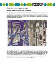 Redundant power supply concepts- Important contribution to high levels of availability