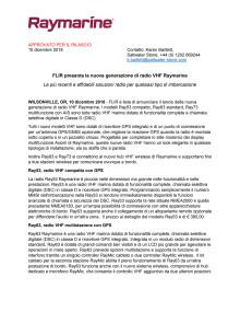 FLIR presenta la nuova generazione di radio VHF Raymarine