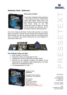 Sebastian Fitzek Safehouse Hintergrundinformationen
