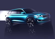 """SKODA visar SUV-koncept """"VisionS"""" i Genéve"""