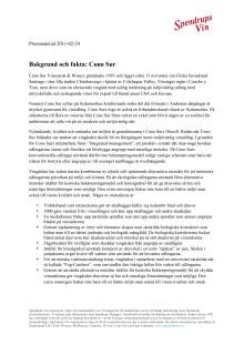Bakgrund och fakta: Cono Sur