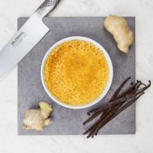 Crème brûlée med smak av ingefära