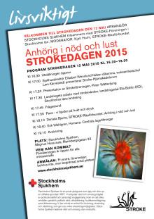 Strokedagen 2015 - Anhörig i nöd och lust