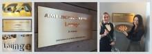Exklusiva mässingsskyltar dellevererade till premiär för VIP-lounge på Pontus in the Air i exklusivt samarbete för American Express Centurion-medlemmar