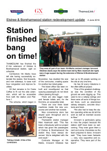Work to extend Elstree & Borehamwood station completed on time