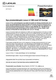 Nya prestandakupén Lexus LC 500 snart till Sverige