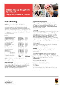 Svetsutbildning - Informationsblad