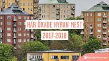 Hyreskartan 2018: Här ökar hyrorna mest