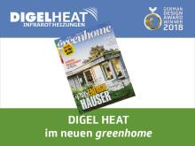 DIGEL HEAT Infrarotheizungen im neuen greenhome Magazin
