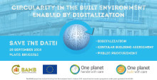BAMB and the One Planet Network join forces to boost circularity in the built environment