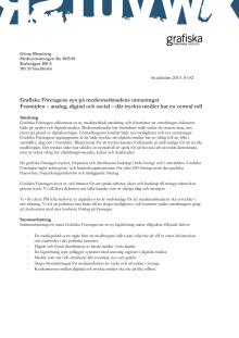 Grafiska Företagens skrivelse till medieutredningen