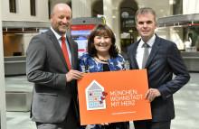"""Stadtsparkasse München unterstützt die Kampagne """"München: Wohnstadt mit Herz"""" des Münchner Netzwerks Wohnungslosenhilfe"""