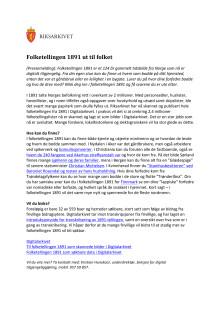 Folketelling1891 - pressemelding - bokmål