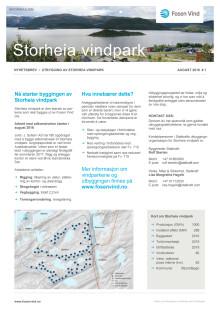 Nyhetsbrev Storheia vindpark 1# - 2016