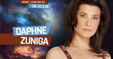 Daphne Zuniga – Prinzessin Vespa aus der Star Wars-Parodie Spaceballs im Anflug auf die FedCon 27 in Bonn!